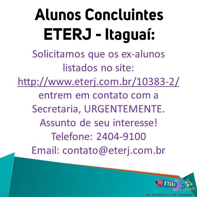 Ex-alunos ETERJ – Itaguaí