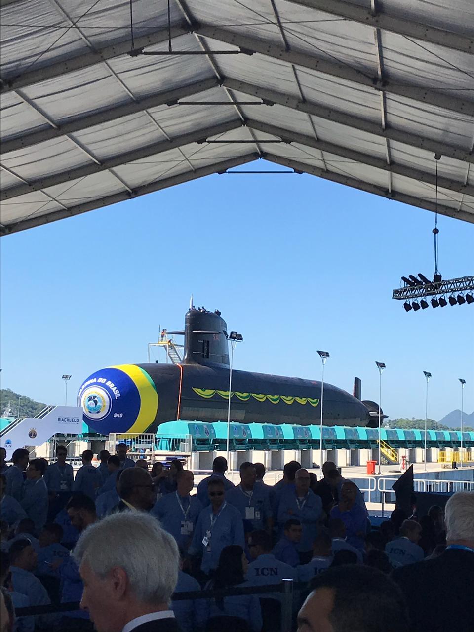 Lançamento do Submarino Riachuelo em Itaguaí