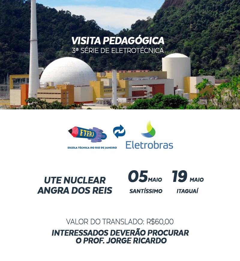 Visita pedagógica a Usina Nuclear em Angra dos Reis
