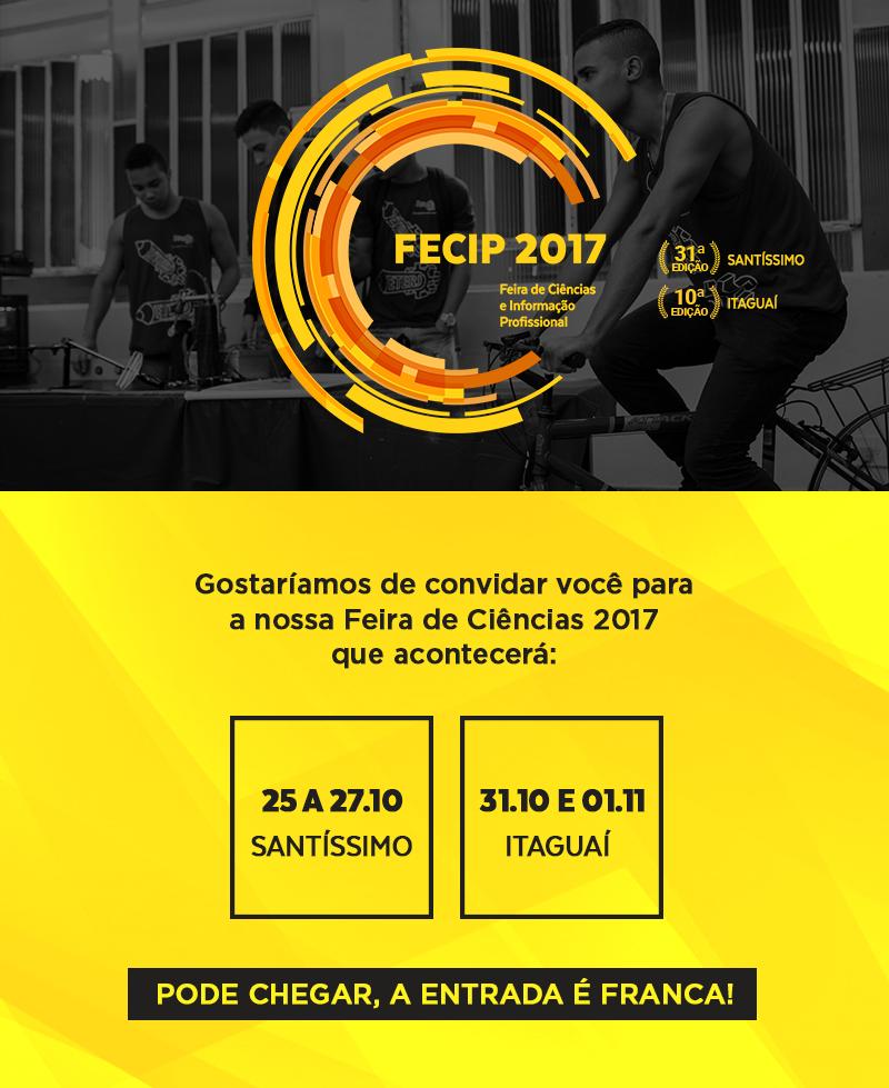 FECIP 2017 Feira de Ciências e Informação da ETERJ Santíssimo
