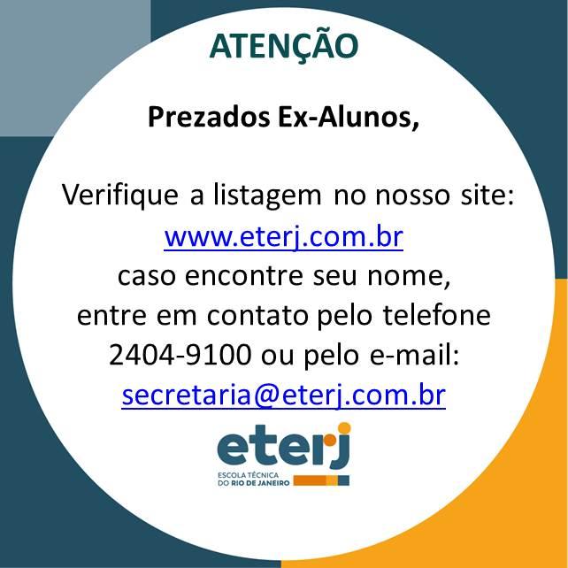 EX-ALUNOS – ATENÇÃO!